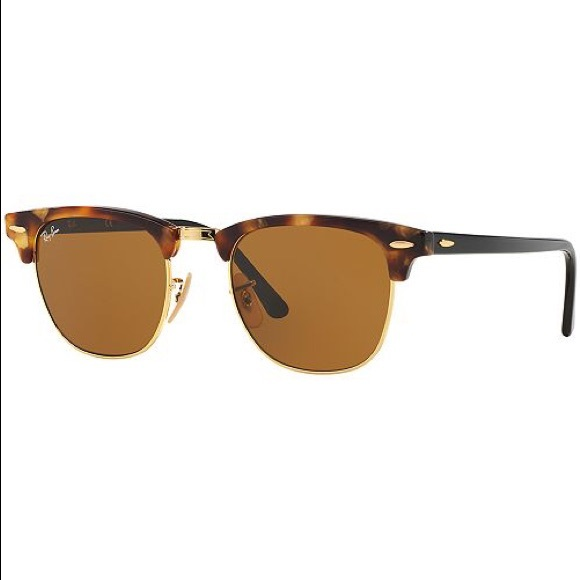 Brown tortoise ray ban club master sunglasses